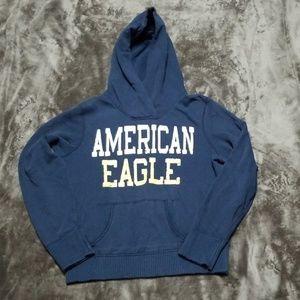 AMERICAN EAGLE DISTRESSED HOODIE SWEATSHIRT TOP